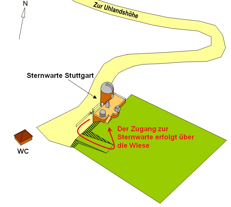 Zugang zur Sternwarte