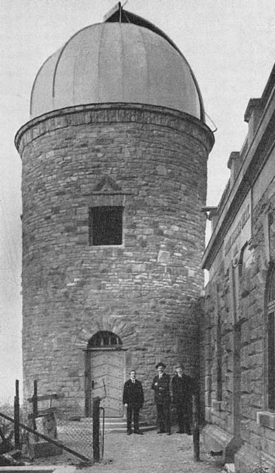 Sternwarte kurz vor der Einweihung 1922
