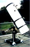 "16 "" Newton reflector telescope on the observation deck"