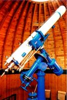 "7 "" Zeiss refractor telescope in the main dome"
